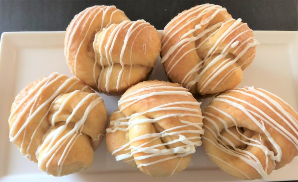 Coffee Breakfast rolls with vanilla drizzle