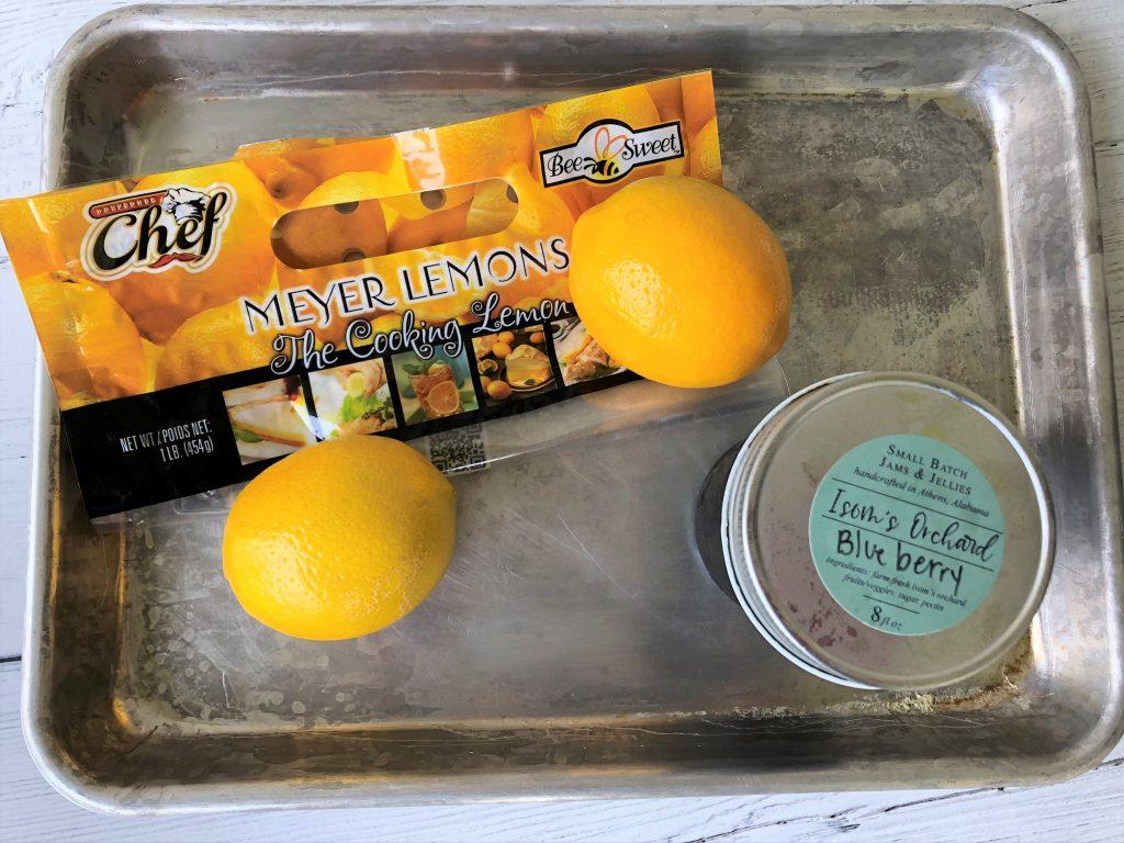 ingredients for lemon sponge cake