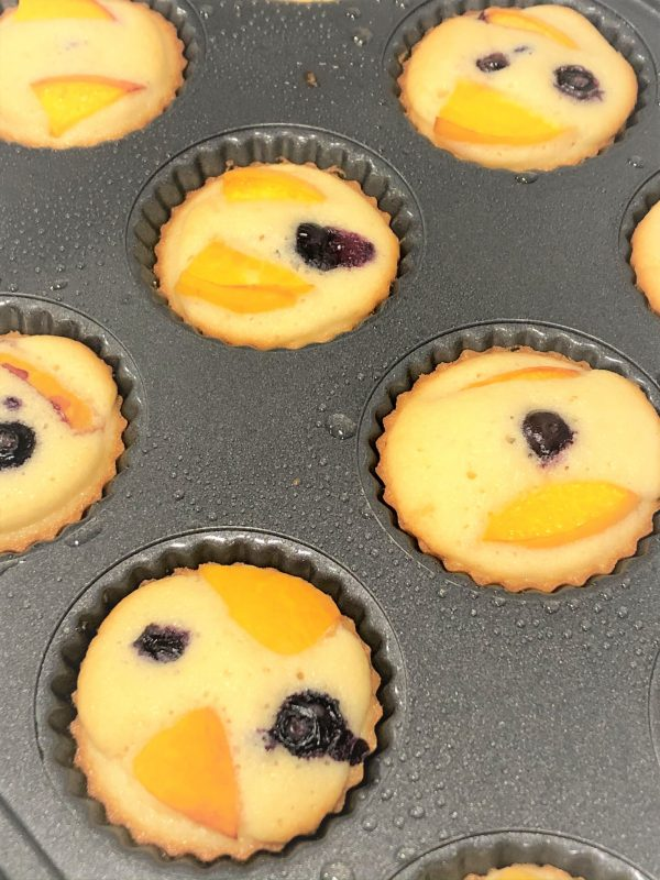 baked tea cakes in a pan