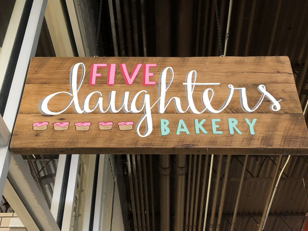 5 daughters bakery sign