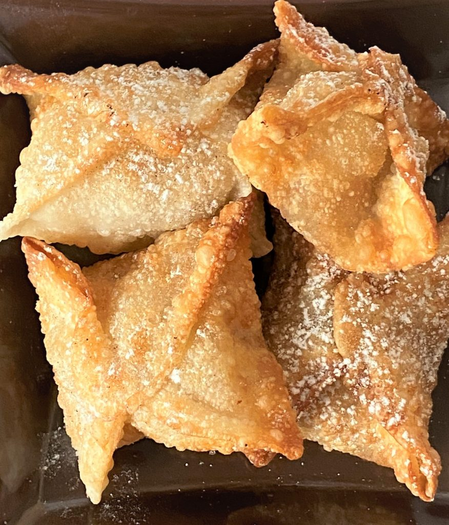 packaged apple pie wontons