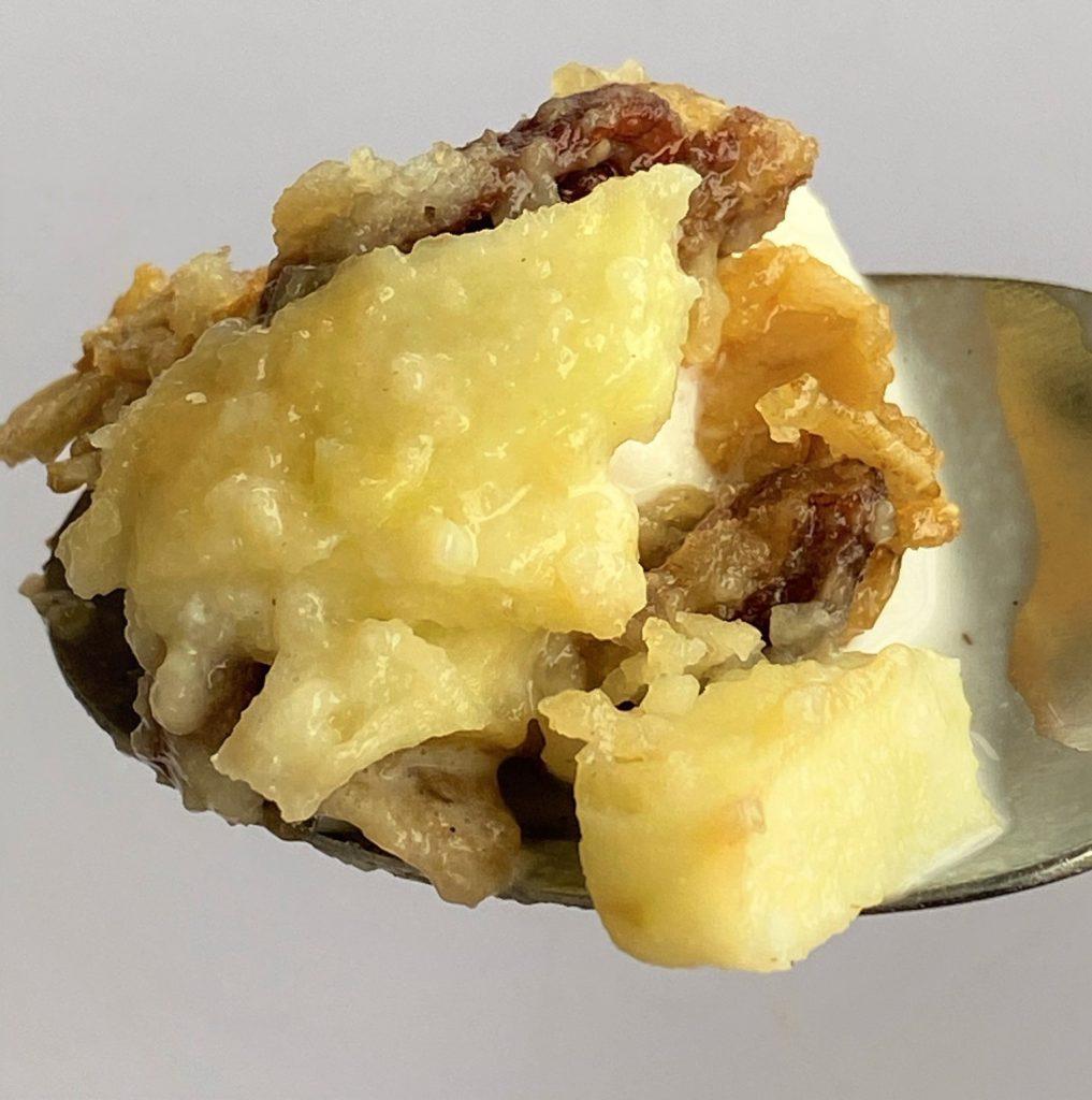 spoonful of apple pudding 2