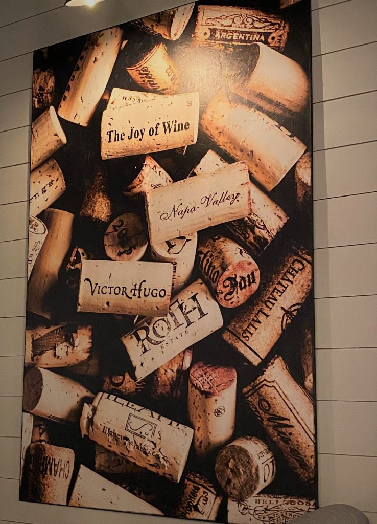 painting of corks on a wall