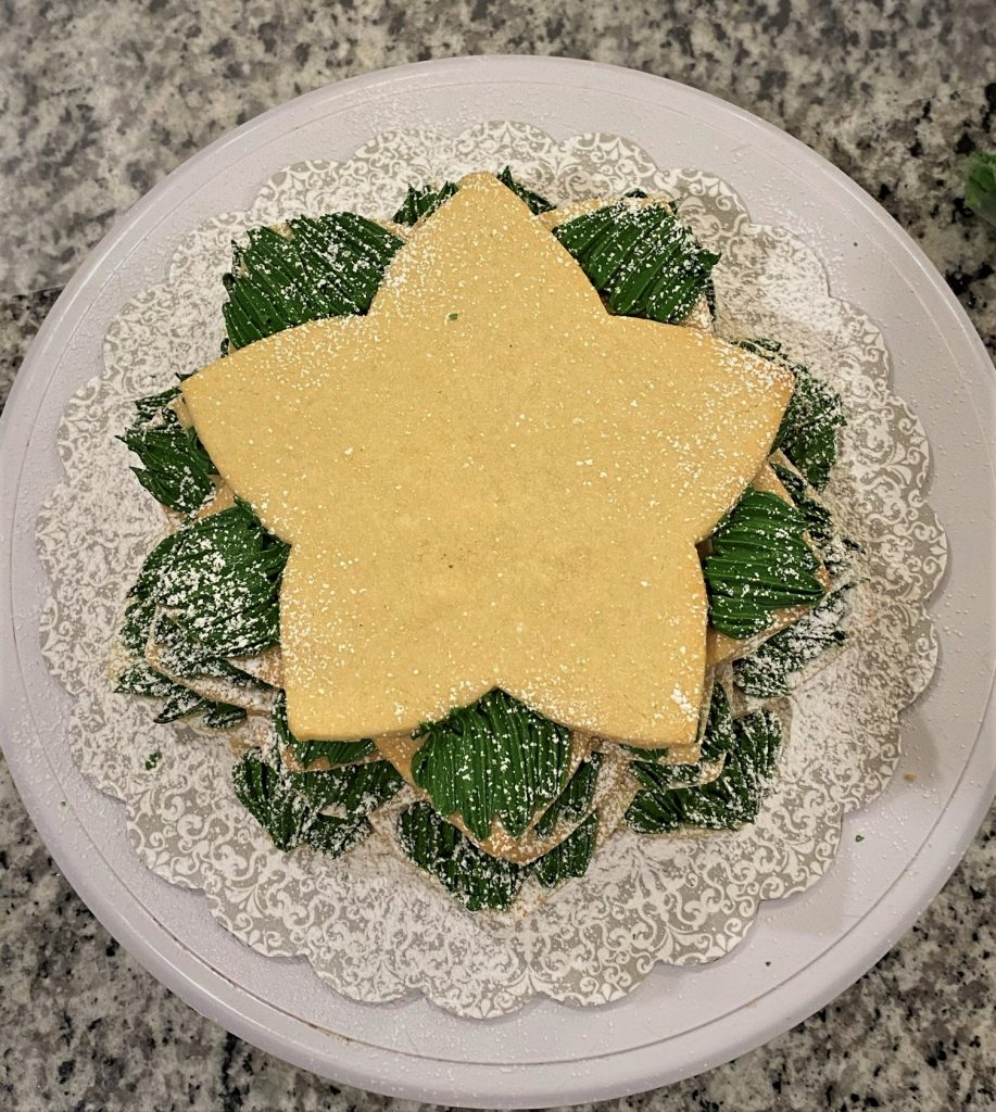 starting assembling the star cookie tree