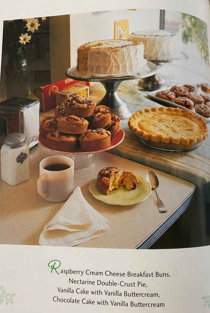 Magnolia baked items on stands