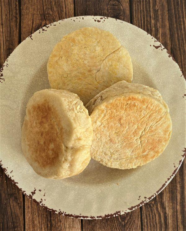 plate of English muffins