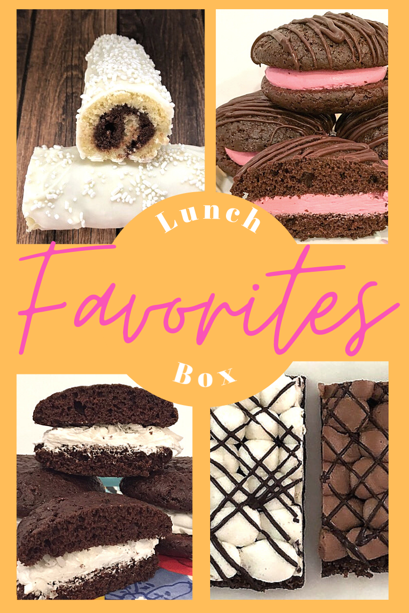 collection of homemade lunchbox favorite desserts