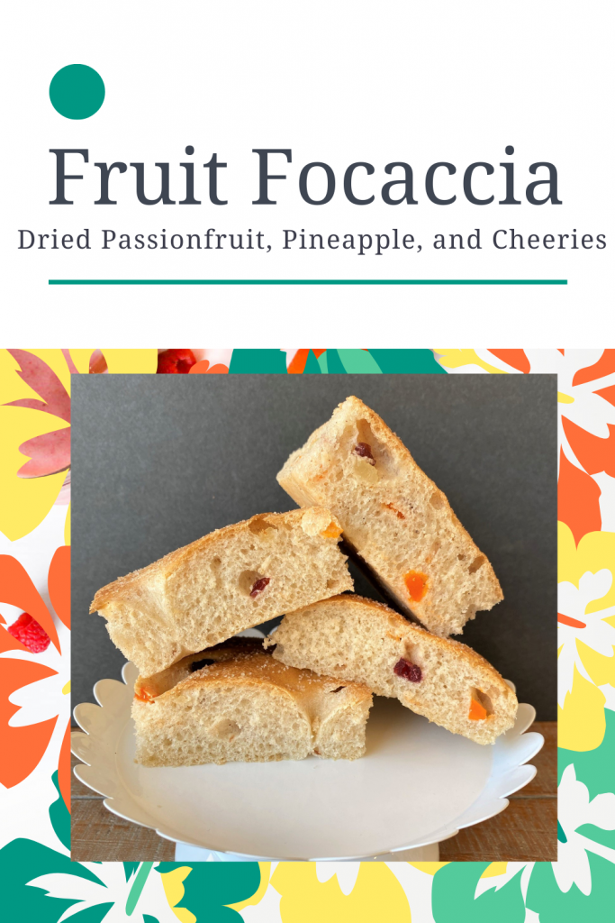 stacked focaccia with dried fruit