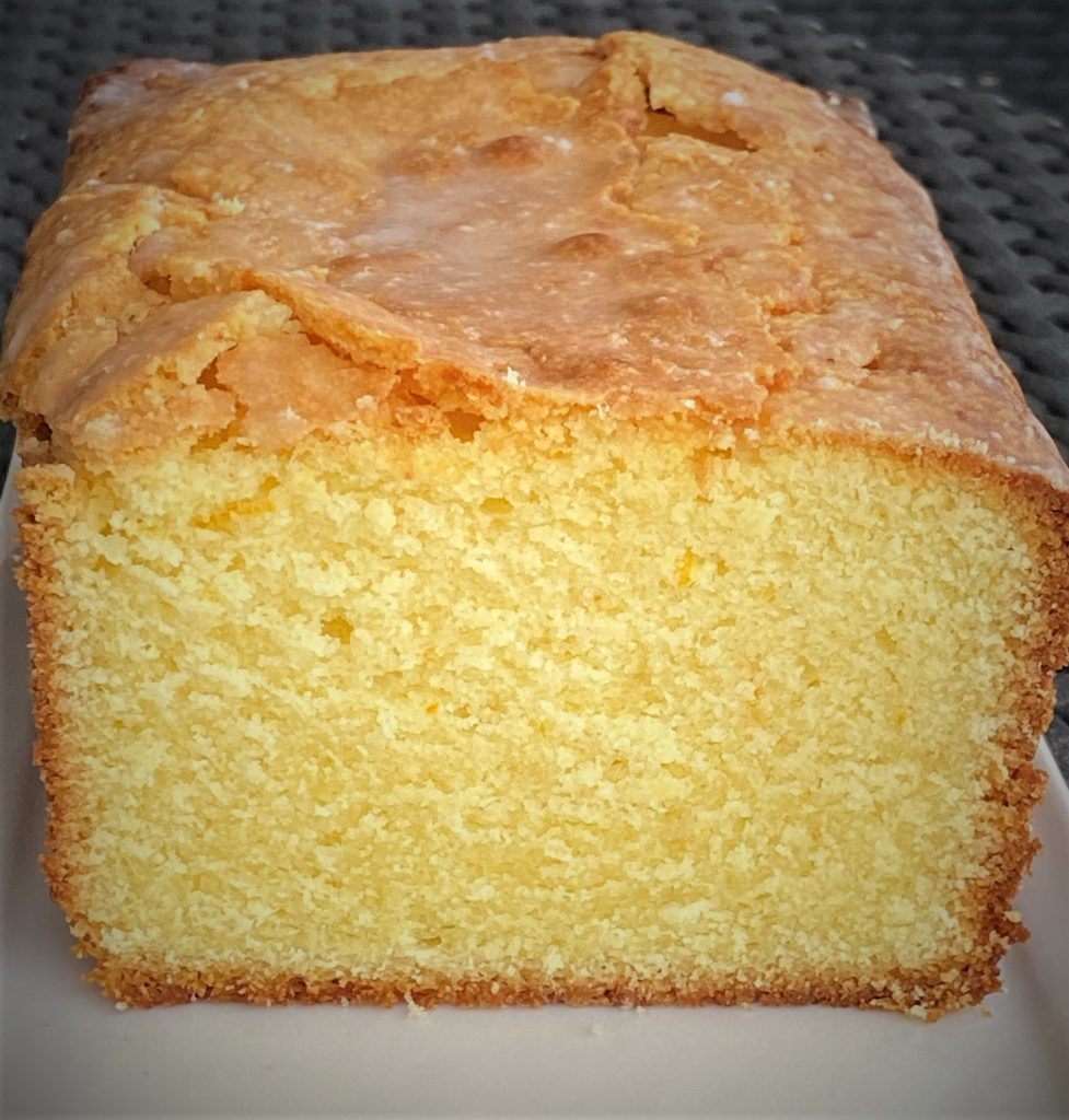 up close lemon coconut pound cake