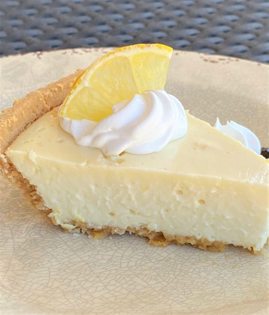 slice of lemon lime pie on a plate