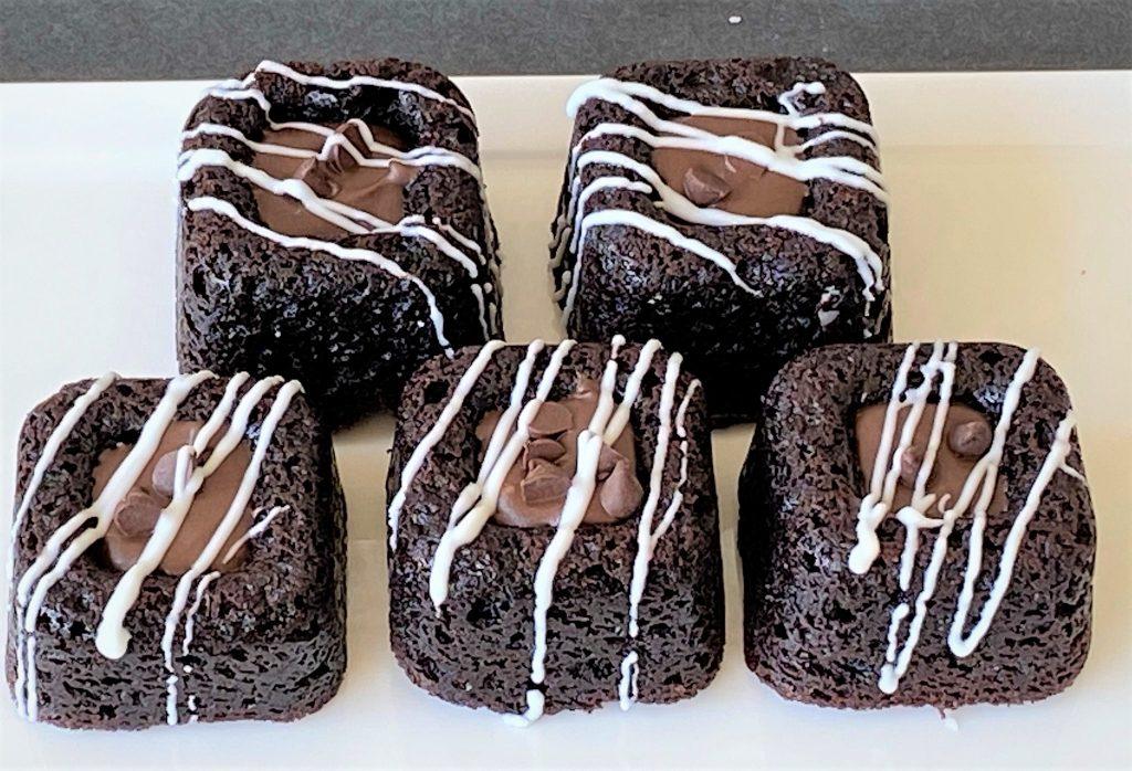 chocolate savarin cookies on a plate