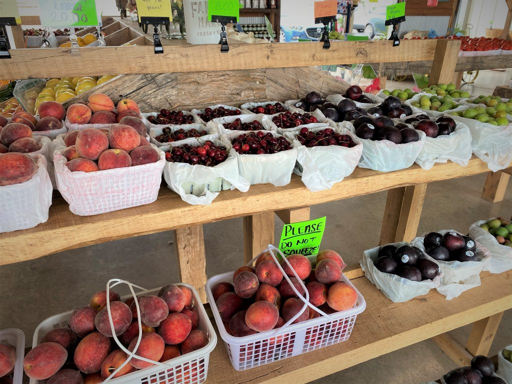fresh fruit at farmers market