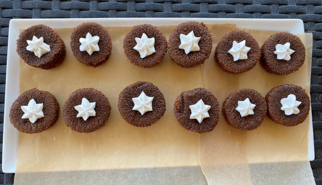 chocolate cupcakes with a star icing