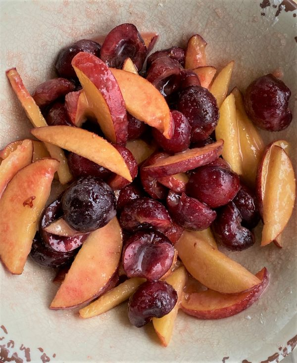 peach and cherry pie filling