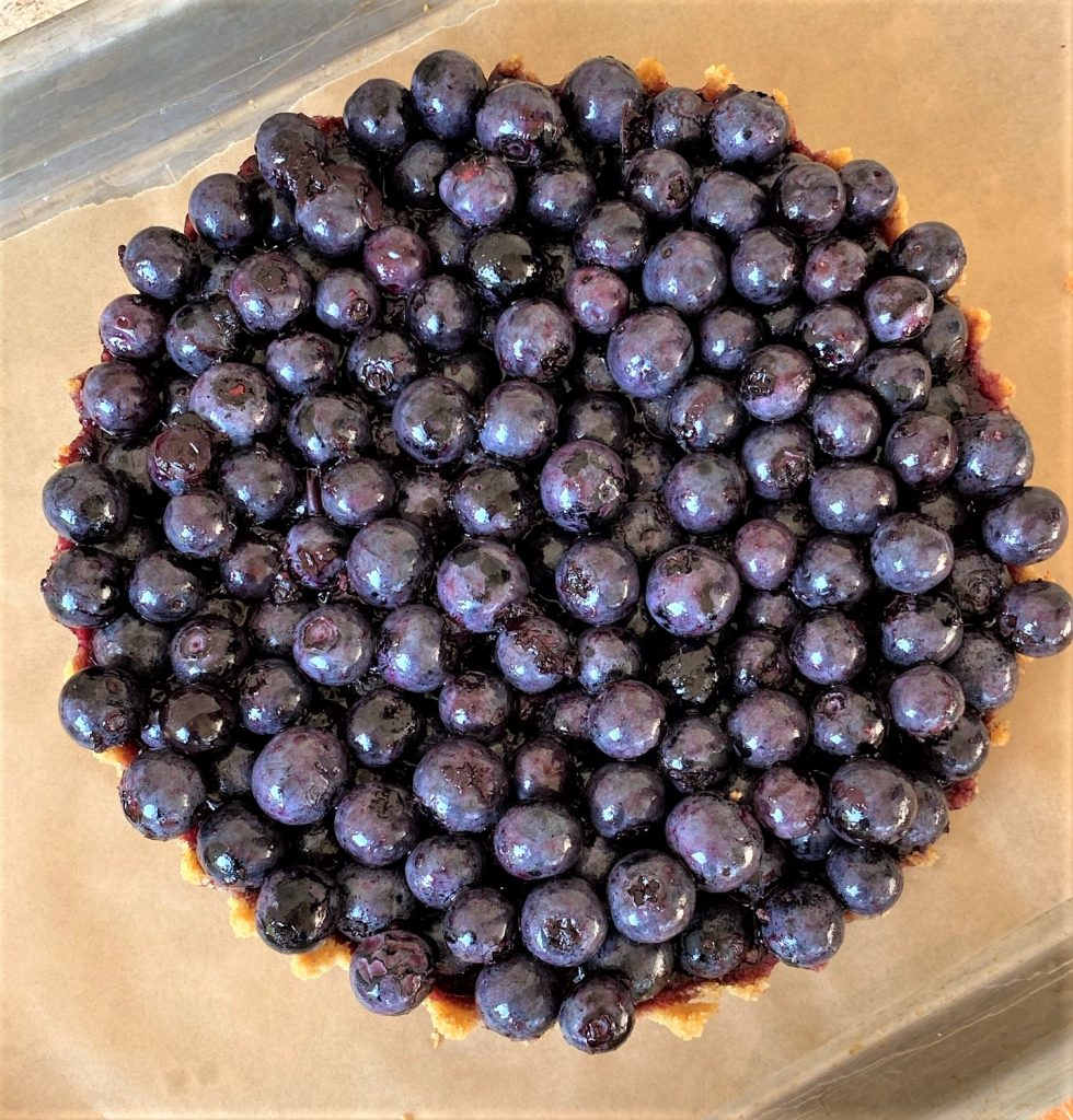 beautiful blueberries for a perfect filling
