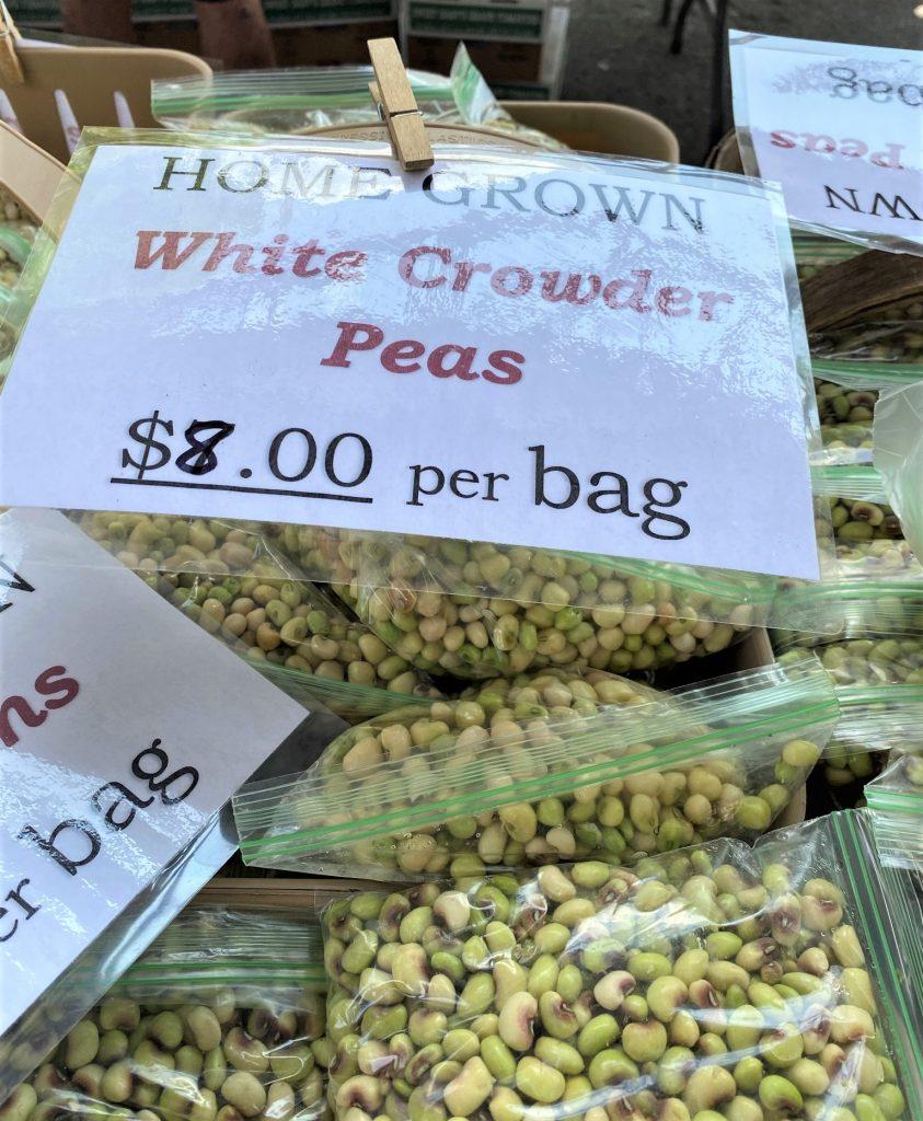 farmers market peas for sale