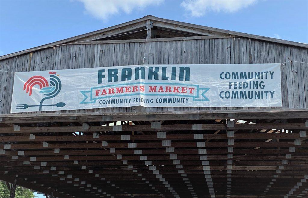 franklin farmers market sign