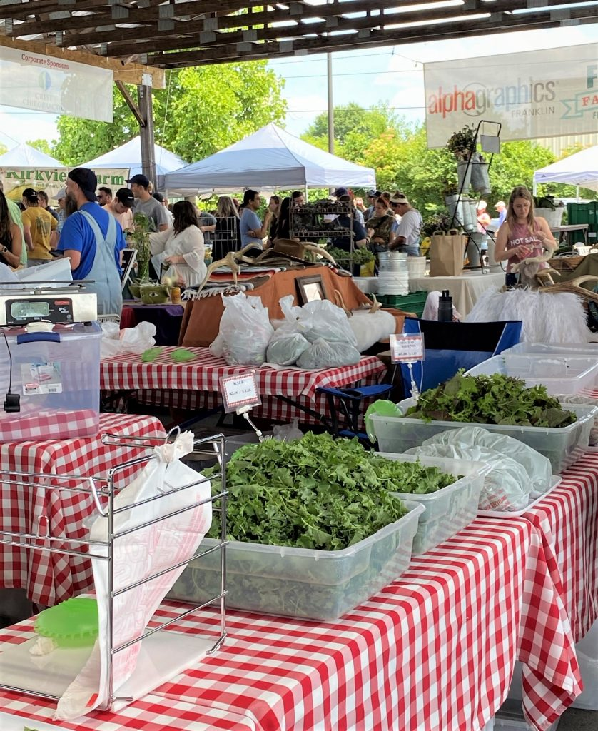 farmers market tables