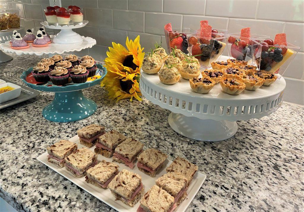 small bites display of mini foods on platters