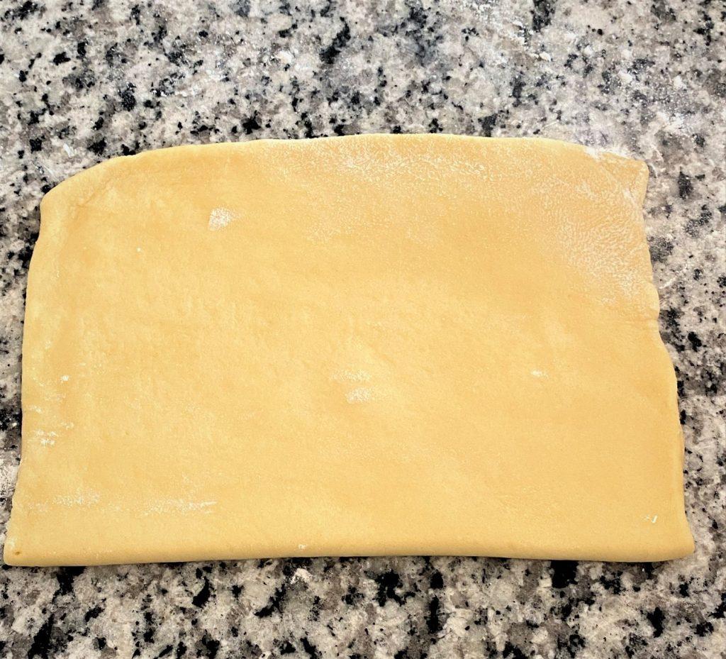 folding sweet dough