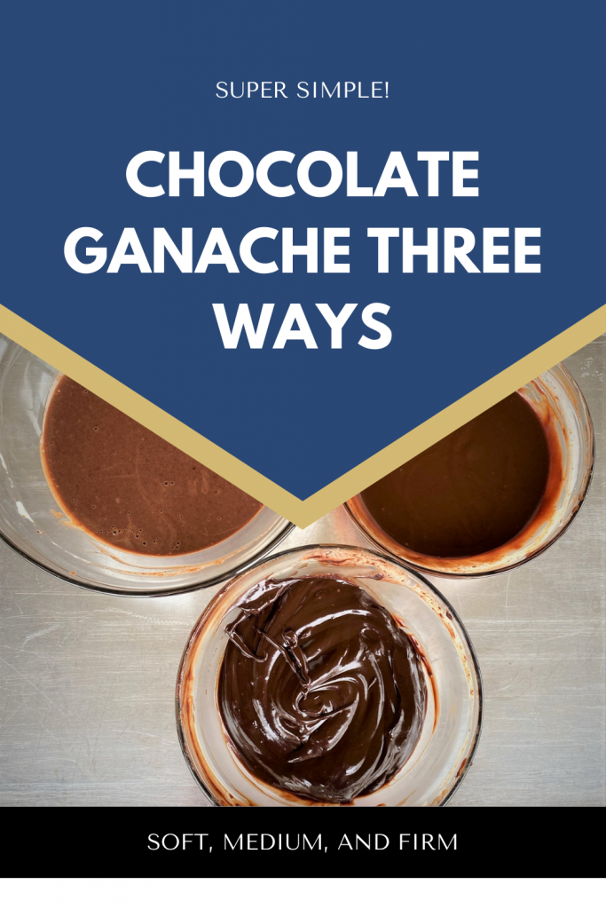 picture of three different ways to prepare chocolate ganache