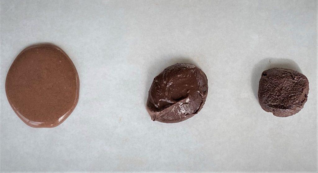 comparing three chocolate ganaches